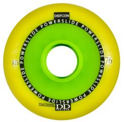 Powerslide Defcon RTS Dual Density 76mm/76-85A Yellow